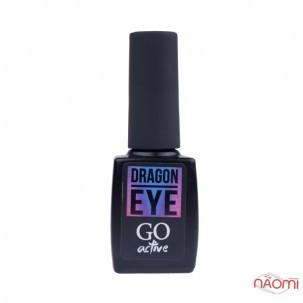 Гель-лак GO Active Dragon Eye 01 шоколадное бордо со светло-розовым бликом, 10 мл