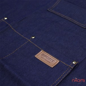 Фартук мастера с карманами, джинсовый