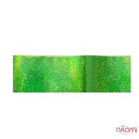 Фольга для ногтей переводная 144, для литья и кракелюра, зеленая, песок L= 0,5 м, ширина 4 см