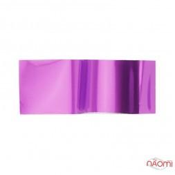 Фольга для ногтей переводная, для литья, розовая глянцевая L= 1 м, ширина 4 см