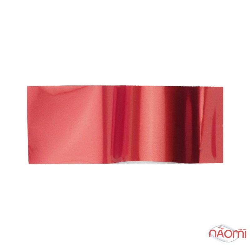 Фольга для нігтів перевідна, для лиття, червона глянцева L = 1 м ширина 4 см FLL-05, фото 1, 6.00 грн.