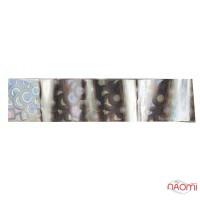 Фольга для ногтей переводная, для литья №01 серебрянные круги, L-1 м ширина 2,5 см