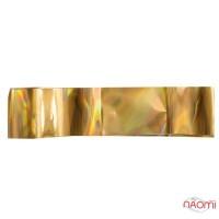 Фольга для ногтей переводная, для литья №05 золото голограмма, L-1 м ширина 2,5 см
