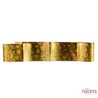 Фольга для ногтей переводная, для литья №09 золотые круги, L-1 м ширина 2,5 см