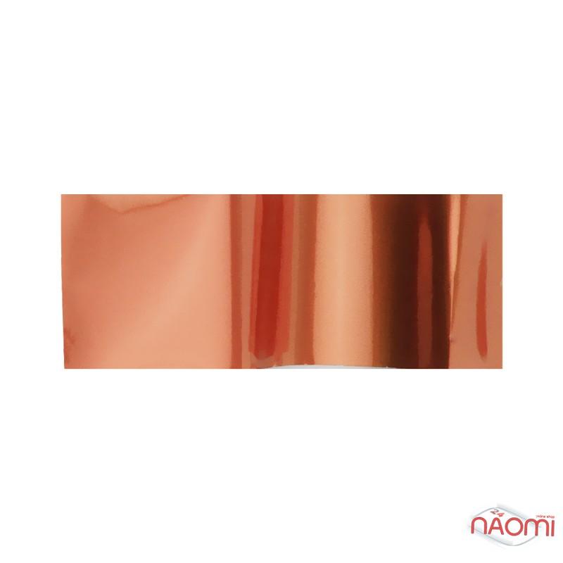 Фольга для ногтей переводная, для литья, бронза  L= 1 м ширина 4 см, фото 1, 6.00 грн.