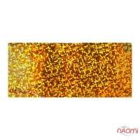 Фольга для ногтей переводная, для литья, gold,  кольца L=1 м. ширина 4 см