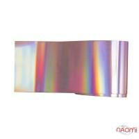 Фольга для нігтів перебивна, для лиття, gold, рожеве золото, L=1 м, ширина 4 см