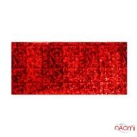 Фольга для ногтей переводная, для литья, красная, битое стекло мелкое L= 1 м ширина  4 см