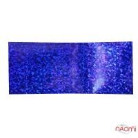 Фольга для ногтей переводная, для литья, темно-синяя, битое стекло  L= 1 м ширина 4 см