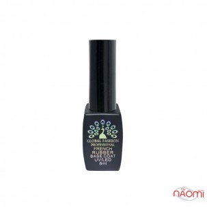 База камуфлююча каучукова для гель-лаку Global Fashion French Rubber Base Coat 03, 8 мл