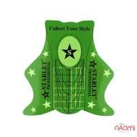 Формы для наращивания ногтей Starlet Professional зеленые, 20 шт.