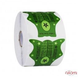 Формы для наращивания ногтей Starlet Professional зеленые, 500 шт.