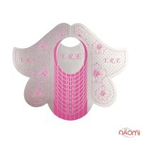 Формы для наращивания ногтей YRE Лилия, розовые, 20 шт.
