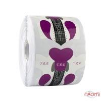 Формы для наращивания ногтей YRE Узор, фиолетовые, 300 шт.