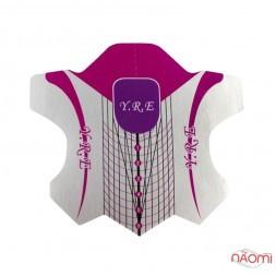 Формы для наращивания ногтей YRE Узор, розовые, 20 шт.