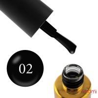 Гель-лак F.O.X Pigment 002 черный, 6 мл