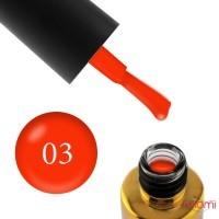 Гель-лак F.O.X Pigment 003 насыщенно-оранжевый, 6 мл