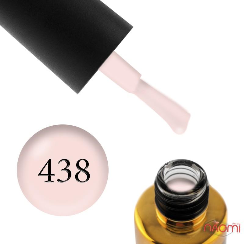 Гель-лак F.O.X Pigment 438 светлый молочно-телесный, 6 мл, фото 1, 105.00 грн.