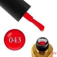 Гель-лак F.O.X Pigment 043 класичний червоний, 6 мл