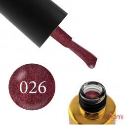 Гель-лак F.O.X Pigment 026 марсала с розовыми шиммерами, 6 мл