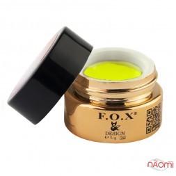 Гель-пластилин F.O.X № 005 желтый, 5 мл