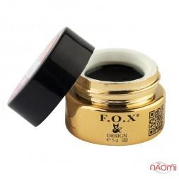 Гель-краска F.O.X. № 002, цвет черный, 5 мл