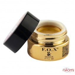 Гель-краска F.O.X. № 005, цвет золото, 5 мл