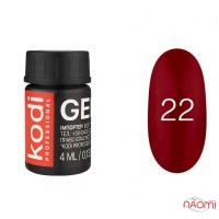 Гель-фарба Kodi Professional 22, колір червоно-бордовий, 4 мл