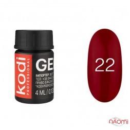 Гель-краска Kodi Professional 22, цвет красно-бордовый, 4 мл