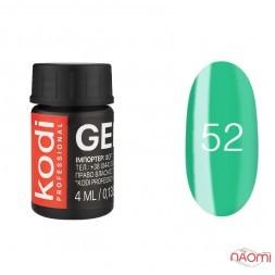 Гель-фарба Kodi Professional 52, колір зелений, 4 мл