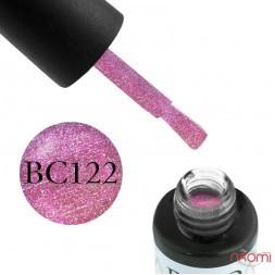 Гель-лак Boho Chic BC 122 рожевий з переливними блискітками, 6 мл