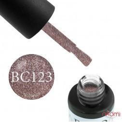Гель-лак Boho Chic BC 123 коричневый с переливающимися блестками, 6 мл