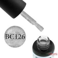Гель-лак Boho Chic BC 126 серебристые блестки, 6 мл