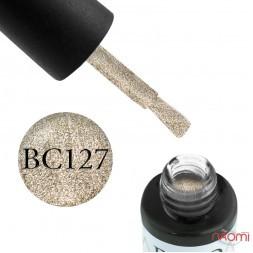 Гель-лак Boho Chic BC 127 золотистые блестки, 6 мл