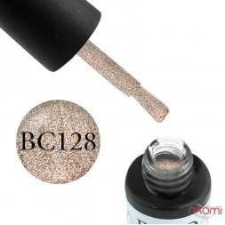 Гель-лак Boho Chic BC 128 бронзово-золотисті блискітки, 6 мл