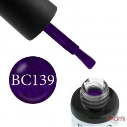 Гель-лак Boho Chic BC 139 фиолетовый с розовыми блестками, 6 мл