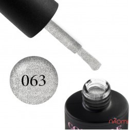 Гель-лак Couture Colour 063 серебро с шиммером, 9 мл