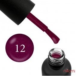 Гель-лак Edlen Professional 012 сливово-винный с шиммерами, 9 мл