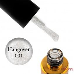 Гель-лак F.O.X Hangover 001, світле срібло з глітером і шимерами, 7 мл