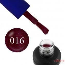 Гель-лак Fayno 016 бордовый с блестками, 7 мл
