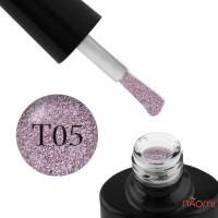 Гель-лак FOCUS PREMIUM TITAN 005 розово-фиолетовые блестки, плотный, 8 мл