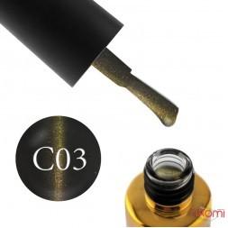 Гель-лак F.O.X 3D Cat Eye 003 перелив блика золотисто-желто-персиковый, 6 мл