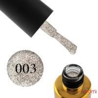 Гель-лак F.O.X Brilliance 003 серебристое айвори, со слюдой, 6 мл