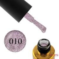 Гель-лак F.O.X Brilliance 010 розовый со слюдой, 6 мл