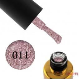 Гель-лак F.O.X Brilliance 011 темно-розовый со слюдой, 6 мл