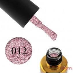 Гель-лак F.O.X Brilliance 012 розовый, со слюдой, 6 мл
