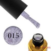 Гель-лак F.O.X Brilliance 015 мягкий фиолетовый со слюдой, 6 мл