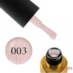 Гель-лак F.O.X Diamond 003 нежный розовый с золотистыми шиммерами, 6 мл