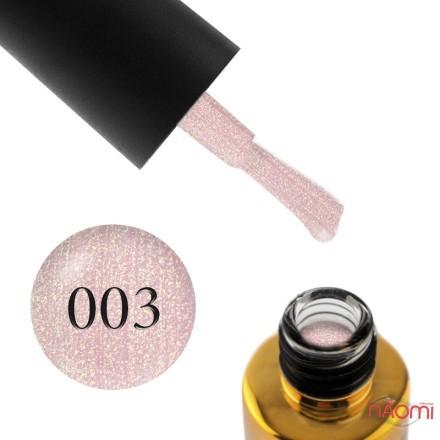 Гель-лак F.O.X Diamond 003 нежный розовый с золотистыми шиммерами, 6 мл, фото 1, 105.00 грн.
