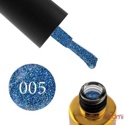 Гель-лак F.O.X Diamond 005 сине-сиреневый с плотными зелеными и синими блестками, 6 мл, фото 1, 105.00 грн.